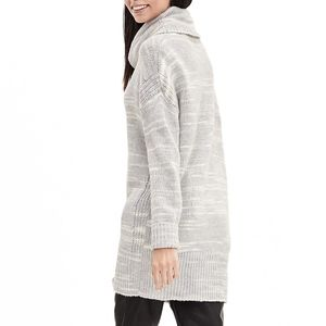 Banana Republic Space Dye Gray Tunic Sweater